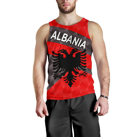 Albania Men Tank Top Sporty Style K8 | 1sttheworld