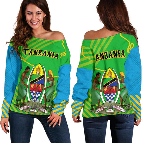 Tanzania Mix Off Shoulder Sweater K5
