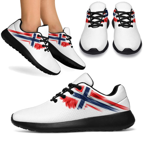 Norway Sneakers Wings Flag (Women's/Men's) | Shoes | Footwear | High Quality