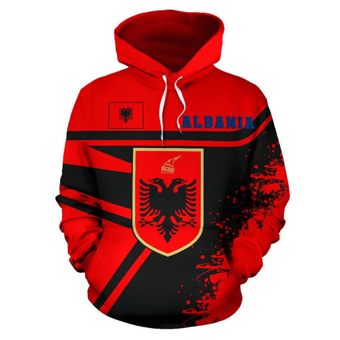 Albania Hoodie Painting Style | 1sttheworld.com