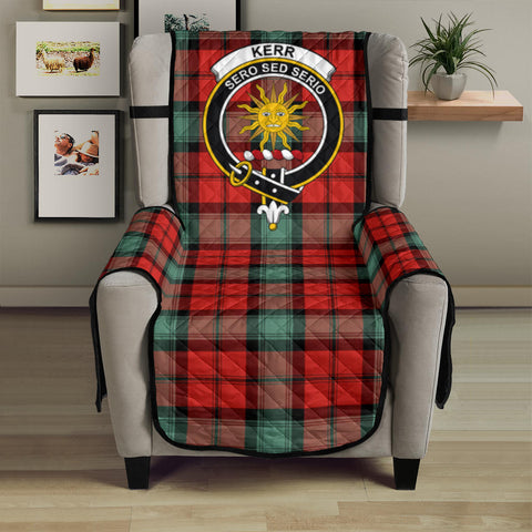 Kerr Ancient Tartan Clan Badge Sofa Protector
