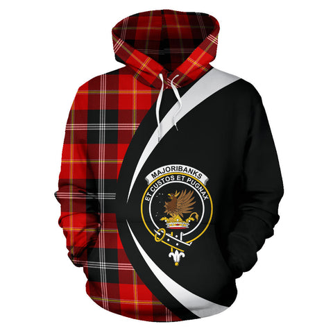 Image of (Custom your text) Marjoribanks Tartan Circle Hoodie