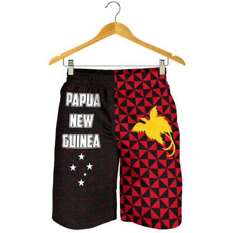 Papua New Guinea Polynesian All Over Print Men's Shorts Coat Of Arms
