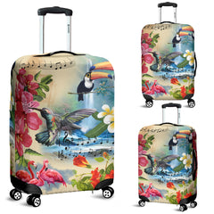 Hawaii Luggage Cover - Hawaiian Flowers And Birds H1