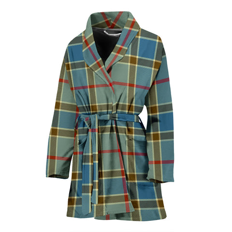 Balfour Blue Tartan Women's Bath Robe