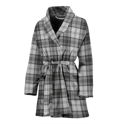 Douglas Grey Modern Tartan Women's Bath Robe