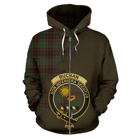 Buchan Ancient  Royal All Over Hoodie (Zip)
