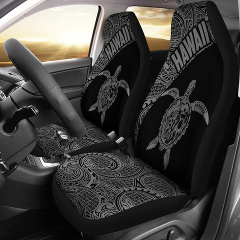Hawaii Car Seat Covers Turtle Polynesian Black Gray Version Th96