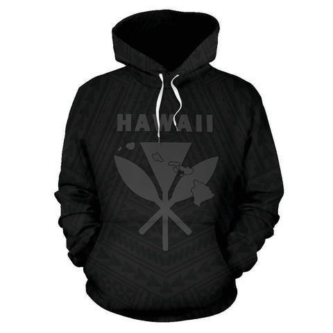 Image of - Hawaii Kanaka Polynesian Hoodie Grey - AH - J71