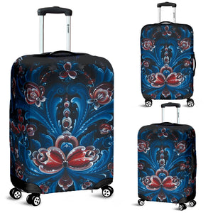 Norwegian- Norway rosemaling luggage cover NN9