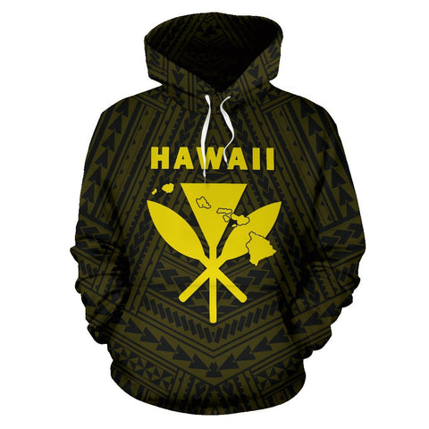 Image of - Hawaii Kanaka Polynesian Hoodie Yellow - AH - J71