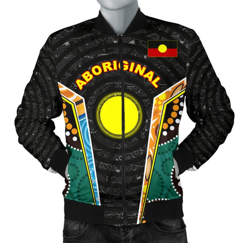 Image of (Custom)1stAustralia Men's Bomber Jacket - Aboriginal Lives Matter Style Tornado - BN17