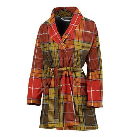 Buchanan Old Set Weathered Tartan Women's Bath Robe
