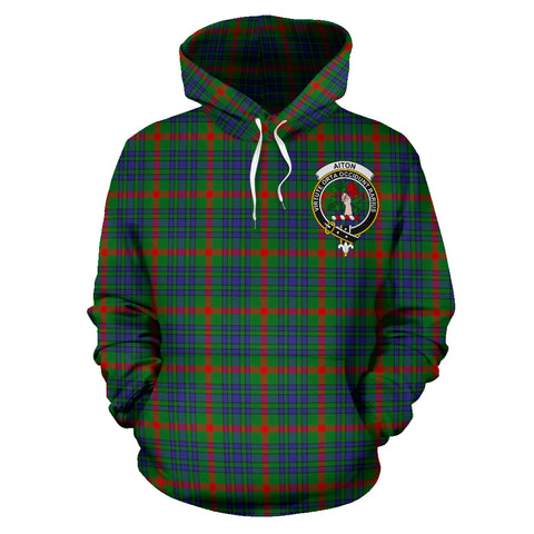 Image of Aiton Tartan Clan Badge Hoodie HJ4