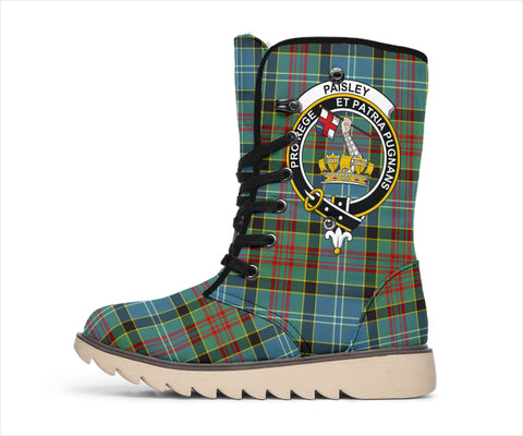 Paisley District Tartan Clan Crest Polar Boots