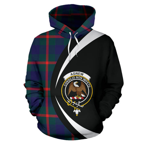 Image of (Custom your text) Agnew Modern Tartan Circle Hoodie