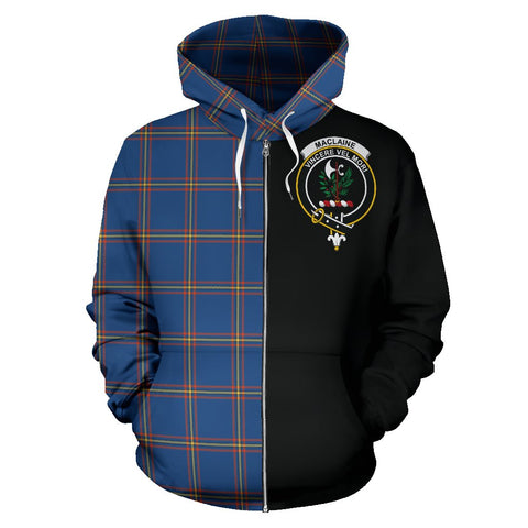 MacLaine of Loch Buie Hunting Ancient Tartan Hoodie Half Of Me | 1sttheworld.com