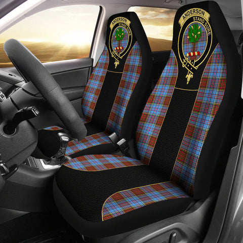 Anderson Modern Tartan Car Seat Cover - Golden Clan Badge