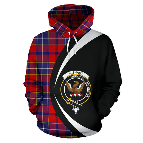 (Custom your text) Wishart Dress Tartan Circle Hoodie