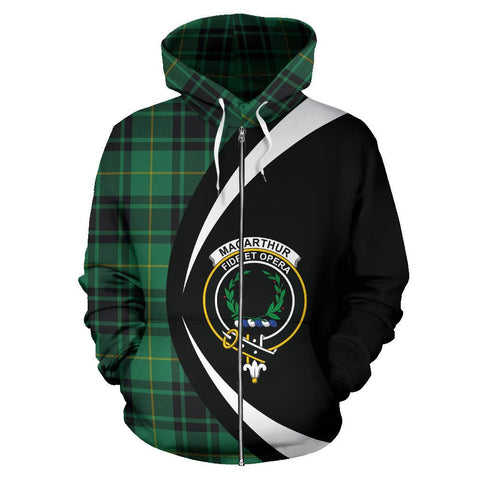 MacArthur Ancient Tartan Circle Zip - Up Hoodie HJ4