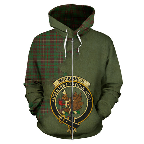 Image of MacKinnon Hunting Ancient  Royal All Over Hoodie (Zip)