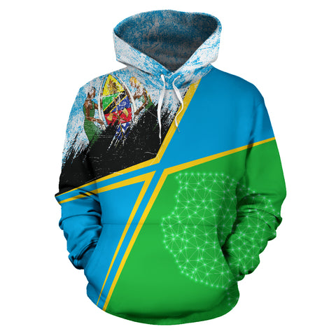 Image of Tanzania Hoodie - X Style - Light Blue mix - Front - For Men and Women