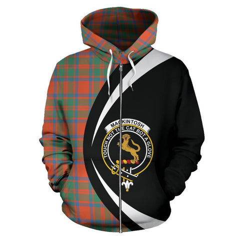 Image of MacKintosh Ancient Tartan Circle Zip Hoodie