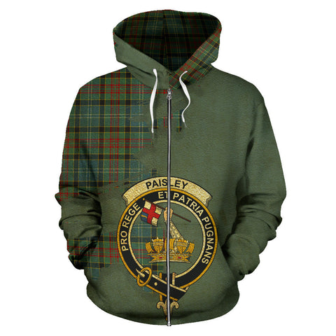 Paisley District  Royal All Over Hoodie (Zip)