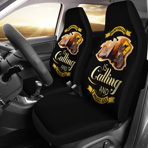 Image of Australia Is Calling I Must Go Car Seat Covers NN2