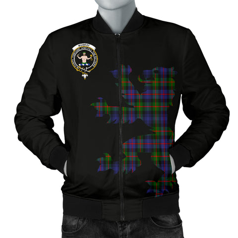 Murray of Athole Tartan Lion And Thistle Bomber Jacket for Men