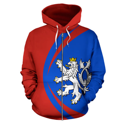 Image of Czech Sport Zip Up Hoodie - Circle Style