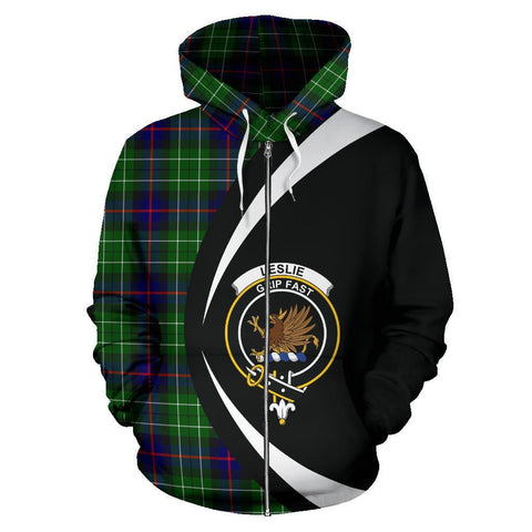 Image of Leslie Hunting Tartan Circle Zip Hoodie