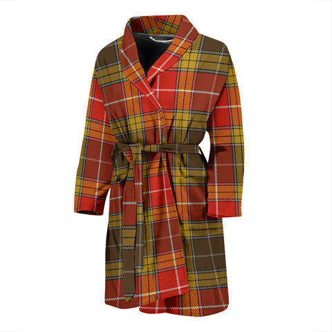 Buchanan Old Set Weathered Tartan Men's Bath Robe