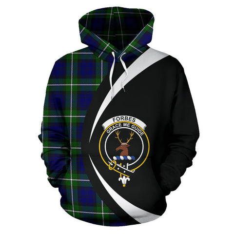(Custom your text) Forbes Modern Tartan Circle Hoodie