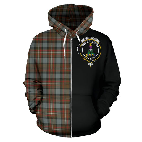 Fergusson Weathered Tartan Hoodie Half Of Me | 1sttheworld.com