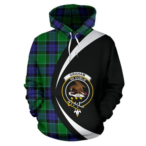 (Custom your text) Graham of Menteith Modern Tartan Circle Hoodie