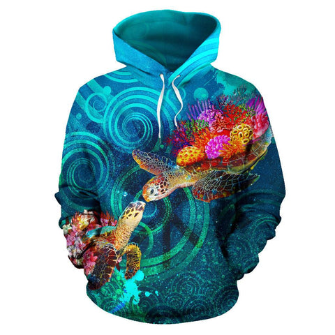 Image of Polynesian Kanaka Maoli (Hawaiian) Hoodie, Turtle Hawaii Map, Turtle Hoodie, Hawaii Map, Polynesian Turtle Hoodie