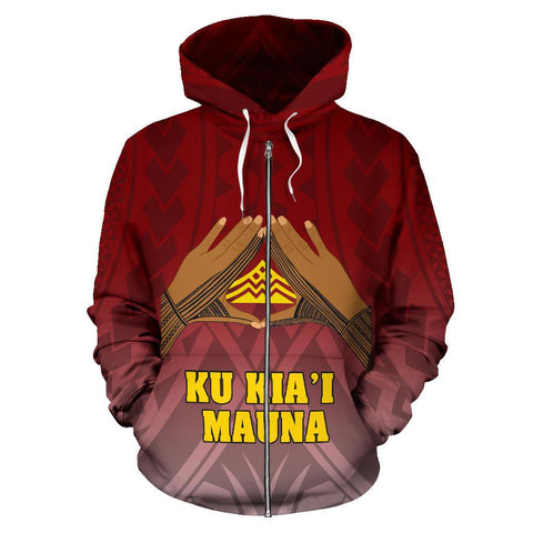 Hawaii Mauna Kea All Over Custom Personalised Zip-Up Hoodie