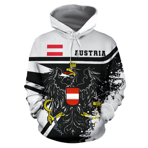 Image of Austria Hoodie Painting Style | 1sttheworld.com
