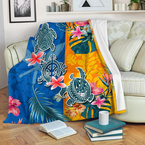 Image of Hawaii Premium Blanket Polynesian Turtle Special | 1sttheworld