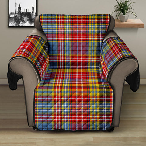 Image of Ogilvie of Airlie Ancient Tartan Recliner Sofa Protector | Tartan Home Set