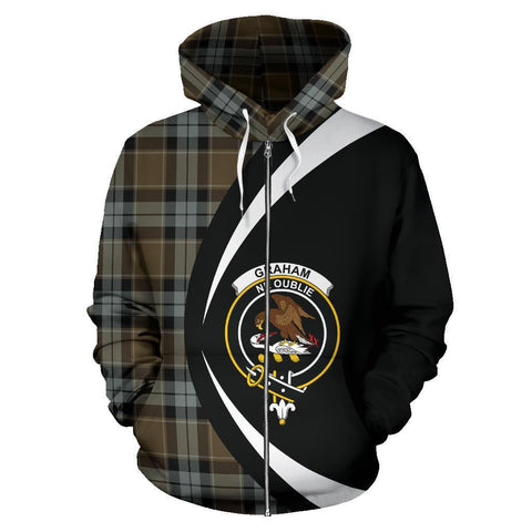 Graham of Menteith Weathered Tartan Circle Zip Hoodie