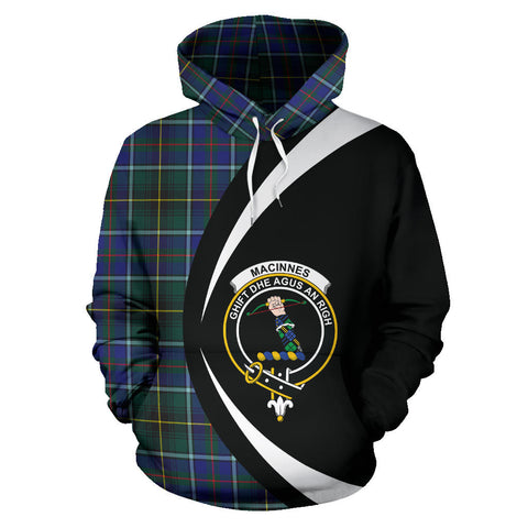 (Custom your text) MacInnes Modern Tartan Circle Hoodie