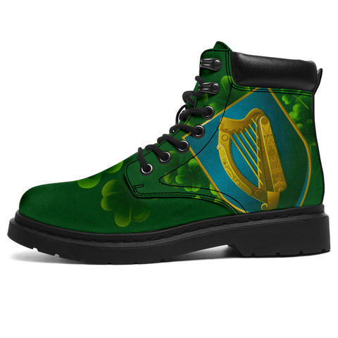 Ireland All-Season Boots - Irish Harp Coat of Arms | Footwear | 1sttheworld