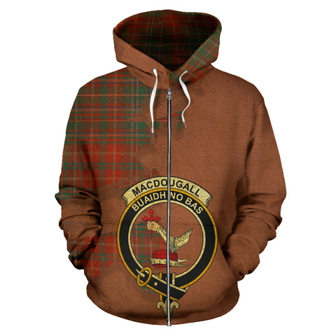 MacDougall Ancient  Royal All Over Hoodie (Zip)