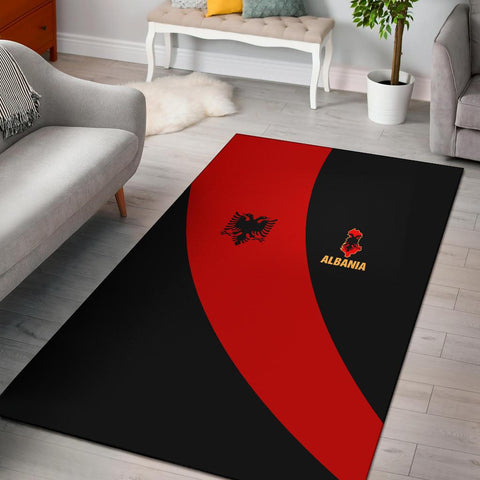 Image of Albania Area Rug Special Flag A21