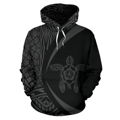 Marshall Islands Turtle Polynesian Hoodie - Circle Style