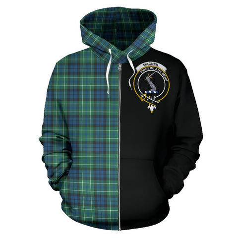 MacNeill of Colonsay Ancient Tartan Hoodie Half Of Me | 1sttheworld.com