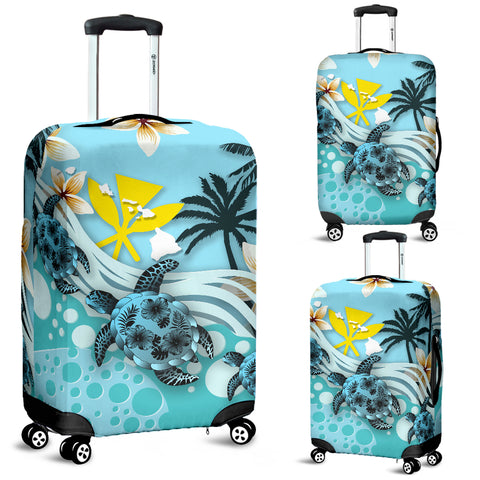 Image of Hawaii Luggage Covers - Blue Turtle Hibiscus | Love The World