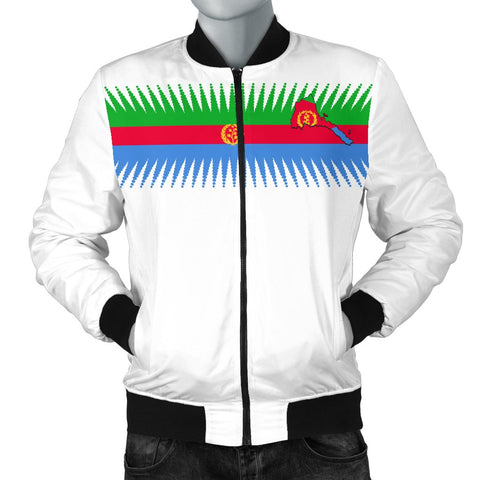 Eritrea United Flag - White Men's Bomber Jacket A15